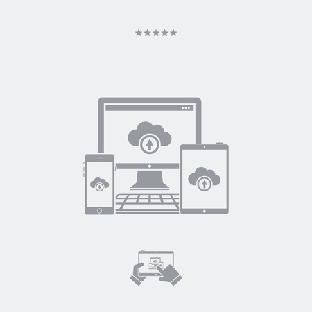 adaptable: Multi devices cloud icon