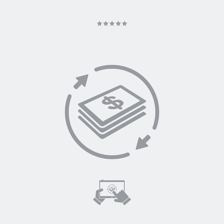 price gain: Money transfer icon - Dollars