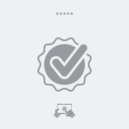 cockade: Checkmark cockade flat icon