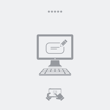 message box: Message box text icon Illustration