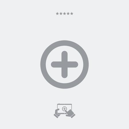 growth enhancement: Plus concept flat icon