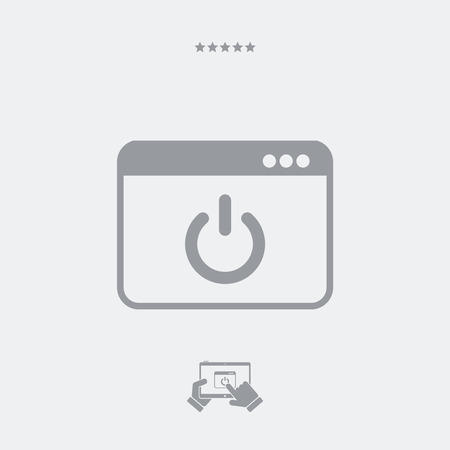power switch: Computer power switch icon Illustration