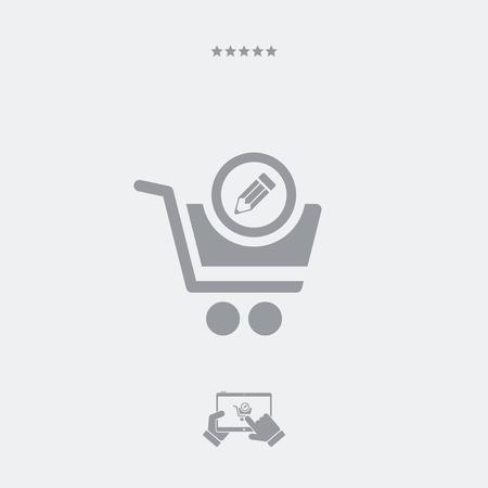stocktaking: Shopping notes flat icon