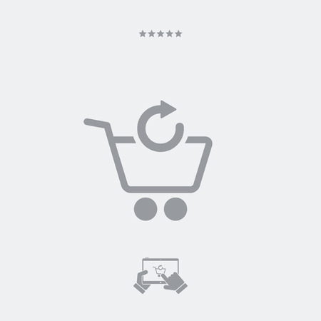 shopping cart icon: Refresh shopping cart icon