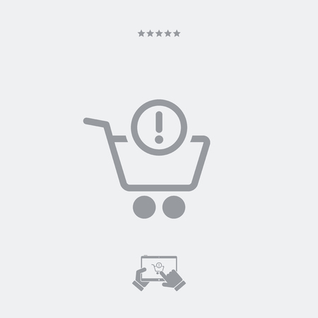 notice of: Shopping alert notice icon Illustration