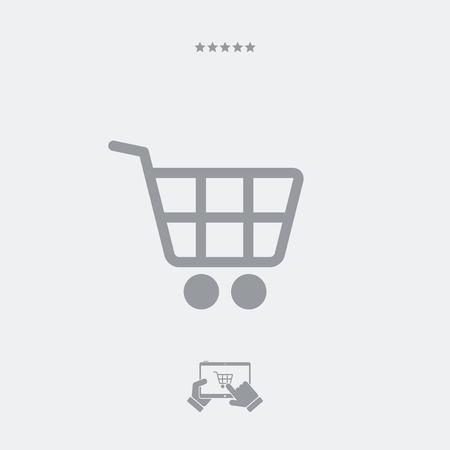 shopping cart icon: Shopping cart flat icon