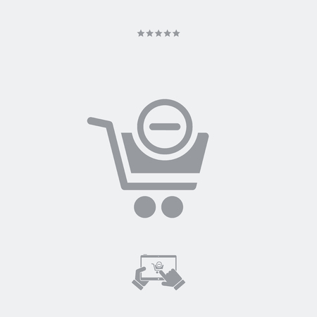 remove: Remove from cart icon Illustration