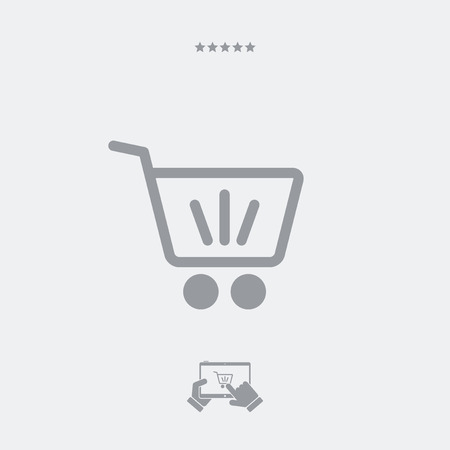 shopping cart icon: Shopping cart minimal icon Illustration