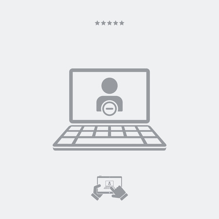 override: Delete contact flat icon Illustration