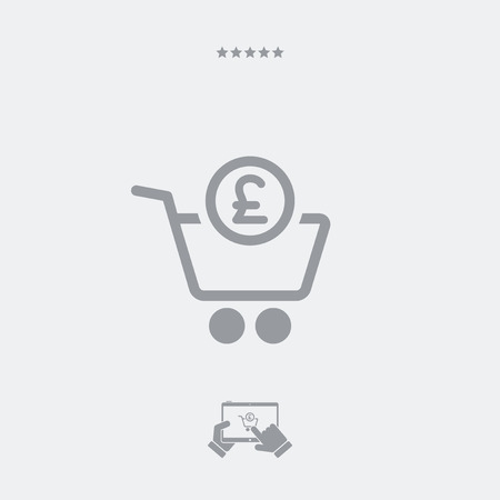 sterling: Shopping completa pagare in sterline Vettoriali