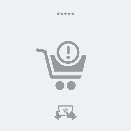 pay attention: Shopping alert notice icon Illustration