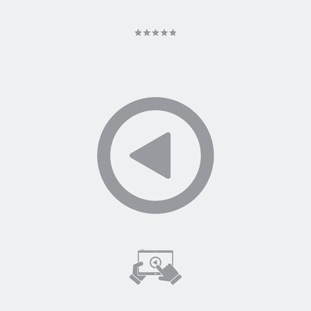 rewind: Rewind player button icon Illustration