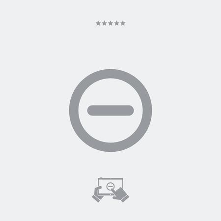 forbidden: Forbidden access flat icon Illustration