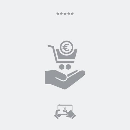 conclude: Minimal modern shopping icon - Euro Illustration