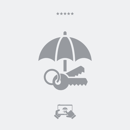 Protected access - Minimal vector icon Illustration