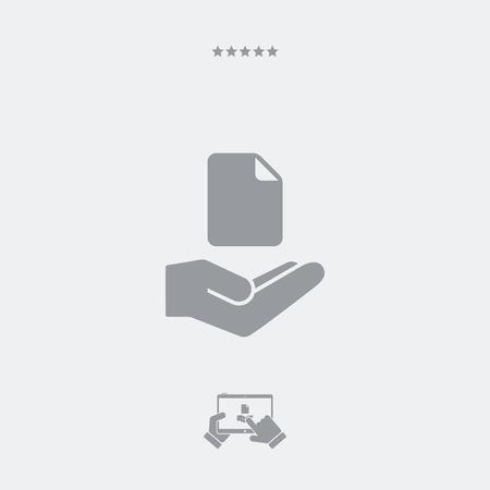 Offre de service - Traitement de fichiers - icône minimale