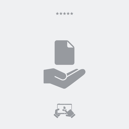 archiving: Service offer - File processing - Minimal icon