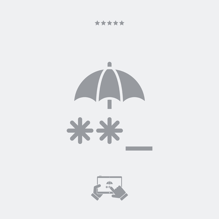 asterisks: Protected password - Minimal vector icon Illustration