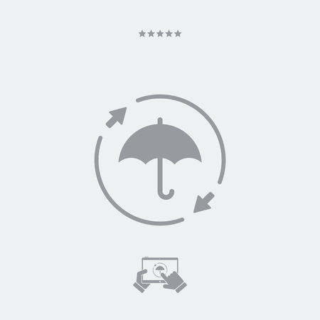 ministration: Constant protection - Minimal vector icon