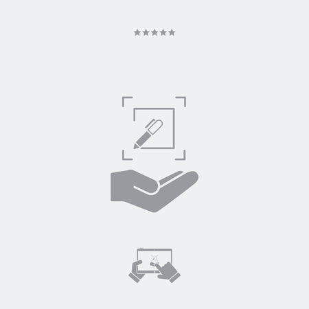 Customized design services - Flat minimal icon Illustration