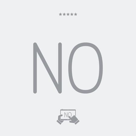 Refusal concept - Minimal vector icon Illustration