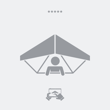 Hang glider concept - Minimal vector icon Illustration