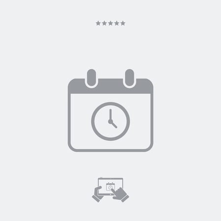 Appointment date and hour - Minimal vector icon