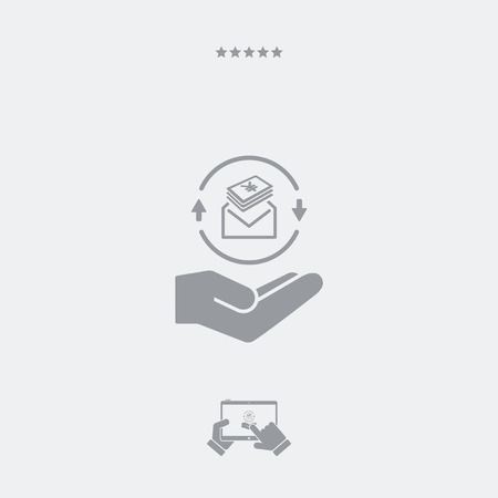 payola: Envelope containing Yen - Minimal modern flat icon