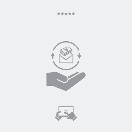 show bill: Sobre que contiene Yen - Mínimo icono plana moderna Vectores
