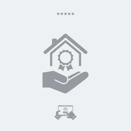 qualify: Residential certifications services - Minimal icon Illustration