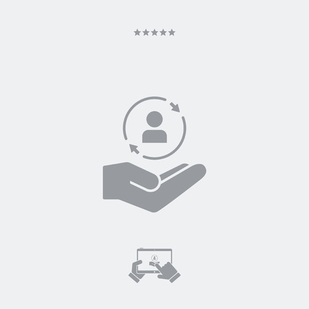 buyer: Service offer - Customer care - Minimal icon
