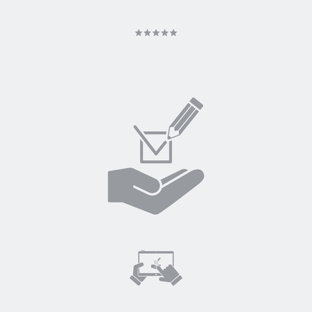 modern: Mark option - Minimal modern icon Illustration
