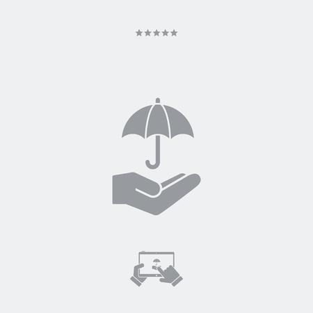 Umbrella - Minimal vector icon