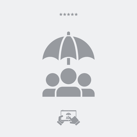 weaker: People protection - Minimal vector icon