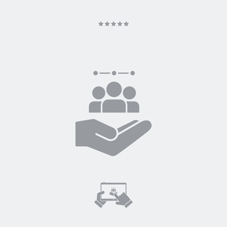 shared sharing: Service offer - Workgroup team - Minimal icon Illustration