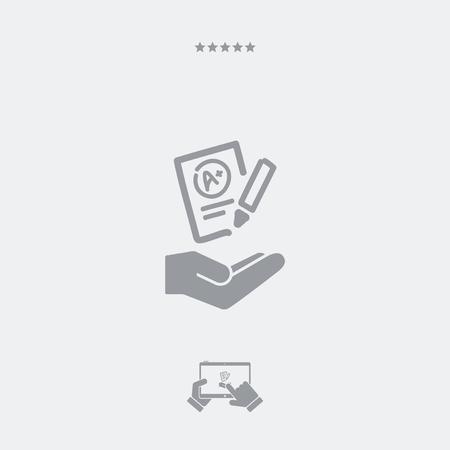 excellent: Excellent evaluation test - Minimal icon Illustration