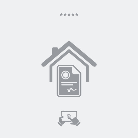 possession: Residential certifications services - Minimal icon Illustration