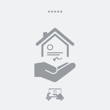 house for sale: House certification services - Minimal icon