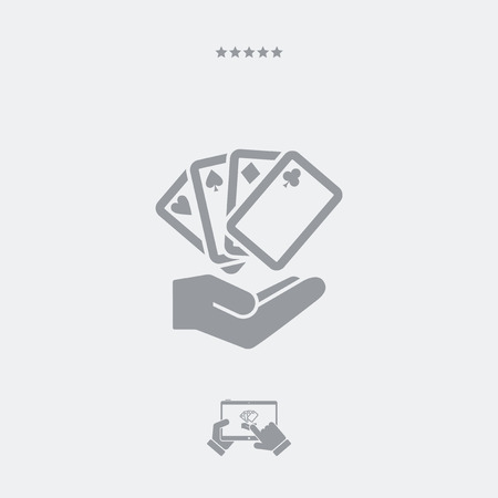Poker game concept - Minimal icon