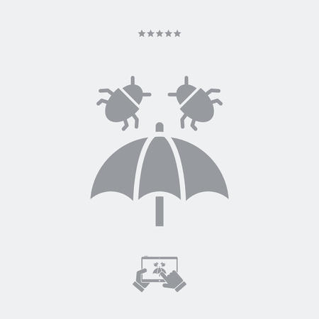 safeness: Virus protection - Minimal vector icon Illustration