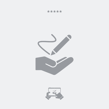 handwrite: Service offer - Handwrite concept - Minimal icon