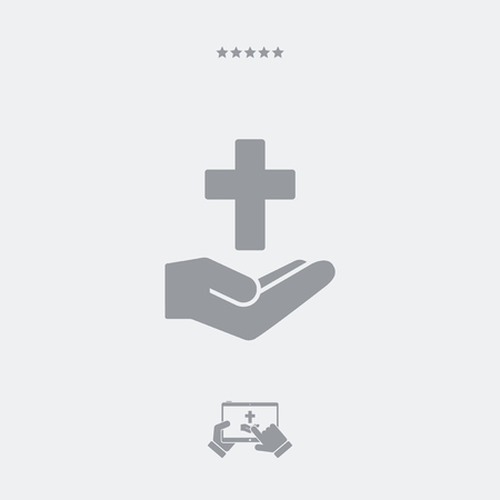 decease: Religious services concept - Minimal flat icon