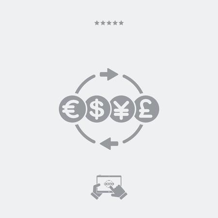 money: Money transfer services - Minimal icon