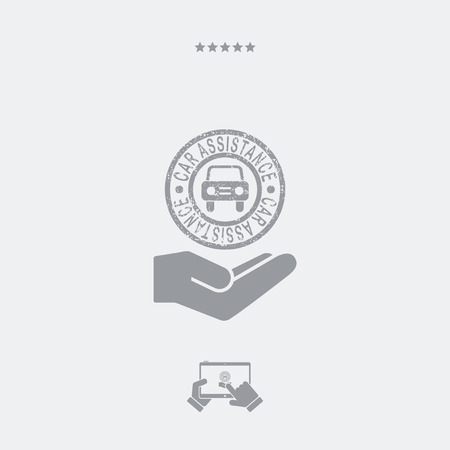 long recovery: Car assistance services - Minimal icon