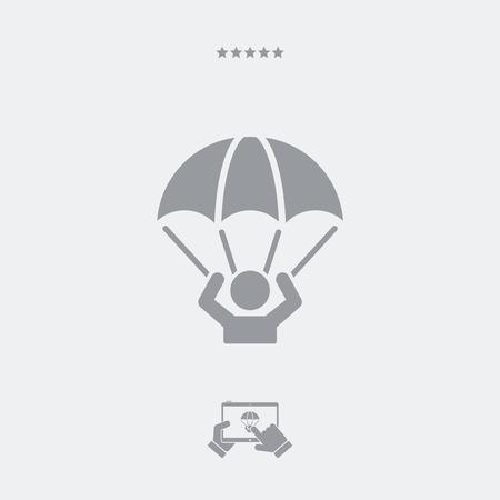 Parachutist - Minimal vector icon