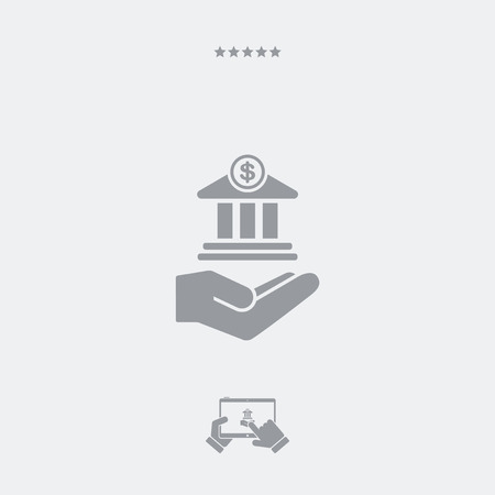 lending: Bank services - Minimal icon Illustration