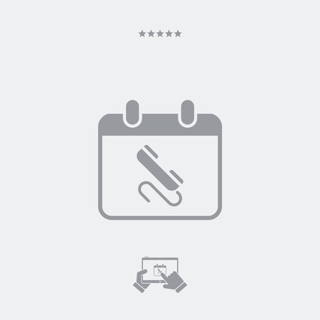Call for appointment - Minimal vector icon