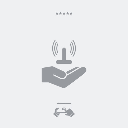 hands free device: Service offer - Wi-fi area - Minimal icon