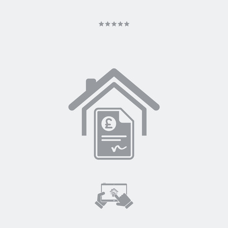 architectonics: Home cost icon - Sterling Illustration