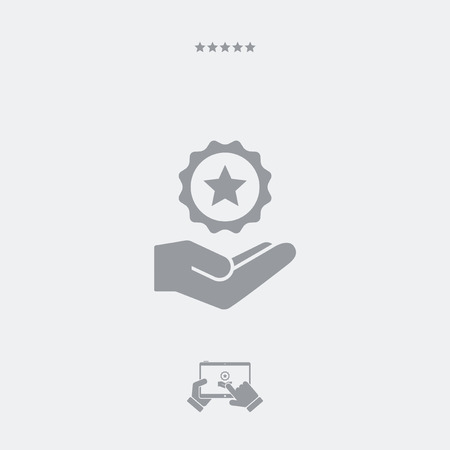 Service offer - Top rating - Minimal icon